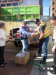 Unloading canned goods at Kempe