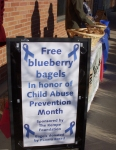 Kempe bagel giveaway to staff