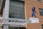 Blue ribbon on The Gary Pavilion